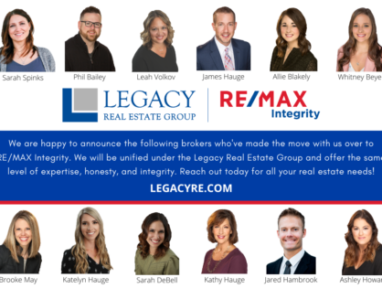 Introducing the Legacy Real Estate Group | RE/MAX Integrity
